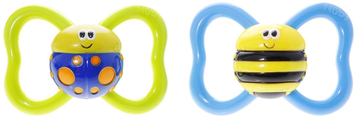 Nuby Пустышка силиконовая Classic Oval, от 6 месяцев, цвет: салатовый, голубойID5967LFSN4_голубой, салатовыйПустышка силиконовая Nuby Classic Oval, снабженная традиционным ограничителем с кольцом, имитирует сосок матери в момент кормления грудью, поэтому оптимально подходит по форме для ротовой полости младенца. Удобная силиконовая соска пустышки не обладает вкусом и запахом, что делает ее наиболее приемлемой для малыша. Силикон - это мягкий и прозрачный материал, который не липнет и легко моется. Такая соска прочна и прослужит долго, не потеряв со временем форму и цвет. Пустышка анатомической формы с силиконовыми шишечками будет необходима для массажа десен. Также она обеспечивает минимальное соприкосновение с кожей. Предохранительное кольцо-держатель позволяет в любой момент легко вынуть пустышку. В комплекте 2 пустышки.