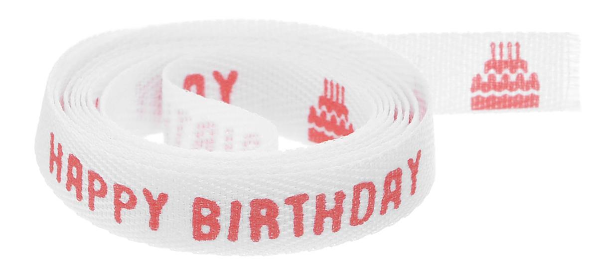 Тесьма декоративная Acufactum Ute Menze С днем рождения, цвет: белый, красный, 1 см х 100 см3720053-015Декоративная тесьма Acufactum Ute Menze С днем рождения выполнена из 100% полиэстера и оформлена поздравительной фразой, тортами и подарками. Такая тесьма идеально подойдет для оформления различных творческих работ таких, как скрапбукинг, аппликация, декор коробок и открыток и многое другое. Тесьма наивысшего качества и практична в использовании. Она станет незаменимым элементом в создании рукотворного шедевра. Ширина: 1 см. Длина: 1 м.