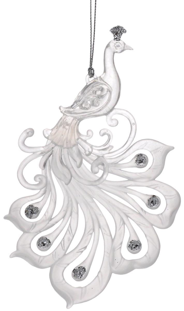 Новогоднее подвесное украшение Феникс-презент Жар-птица, 16 см х 9,5 см38583Подвесное украшение Феникс-презент Жар-птица, выполненное из прочного пластика, прекрасно подойдет для праздничного декора вашей ели. Оригинальное новогоднее украшение в виде жар-птицы оформлено блестками. С помощью специальной петельки его можно повесить в любом понравившемся вам месте. Но, конечно, удачнее всего такая игрушка будет смотреться на праздничной елке. Елочная игрушка - символ Нового года и Рождества. Она несет в себе волшебство и красоту праздника. Создайте в своем доме атмосферу веселья и радости, украшая новогоднюю елку нарядными игрушками, которые будут из года в год накапливать теплоту воспоминаний.