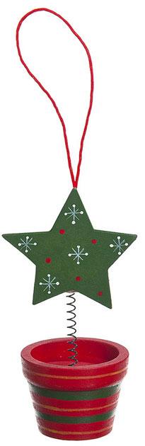 Украшение елочное подвесное Волшебный горшочек, 11 см, дерево67713_6Яркое, красивое, запоминающиеся украшение елочное Волшебный горшочек замечательное украшение новогодней красавицы.