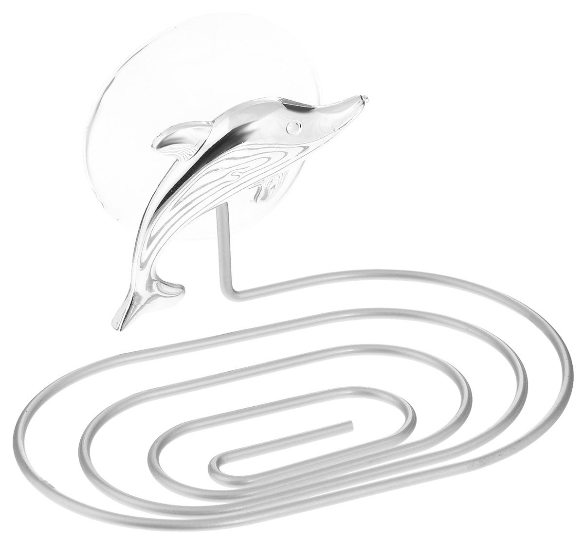 """Мыльница Fresh Code """"Море. Дельфин"""", на присоске, цвет: серебристый, 14 х 9,5 х 2 см"""