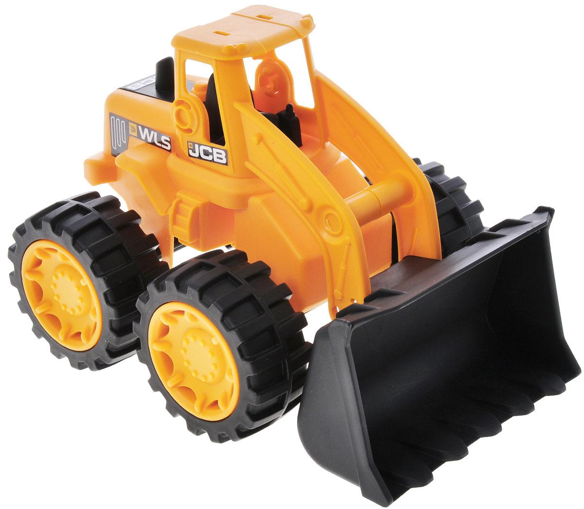 HTI Мини-бульдозер JCB1415639.V15Яркий мини-бульдозер JCB, изготовленный из прочного безопасного материала желтого и черного цветов, отлично подойдет ребенку для различных игр. Бульдозер - прекрасный помощник на строительной площадке. С его помощью ваш ребенок сможет строить и расчищать дороги. Вместительный ковш можно поднимать и опускать. Большие колеса с крупным протектором обеспечивают бульдозеру устойчивость и хорошую проходимость. Ваш юный строитель сможет прекрасно провести время дома или на улице, воспроизводя свою стройку.