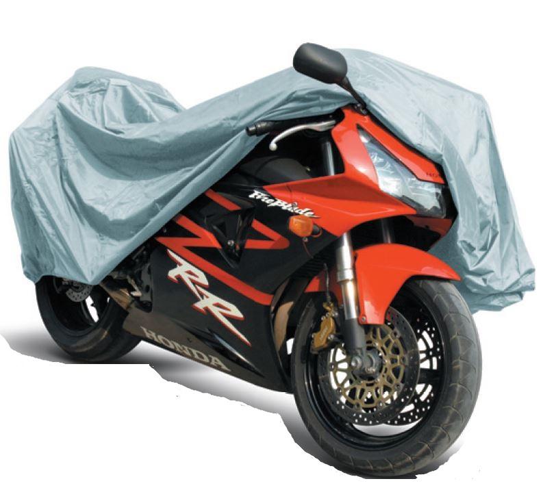 Защитный чехол-тент на мотоцикл AVS, 203 х 89 х 119 см Размер M80534Защитный чехол-тент для мотоциклов AVS изготовлен из трапулина (полиэстер), материал водонепроницаем, устойчив к низким температурам и внешним химическим воздействиям, обладает хорошей термоизоляцией. Чехол с мягкой подкладкой и двойным швом защитит лакокрасочное покрытие от выцветания и от ультрафиолета, от пыли, песка, грязи и пыльцы, снега и льда. В комплекте сумка для хранения тента.