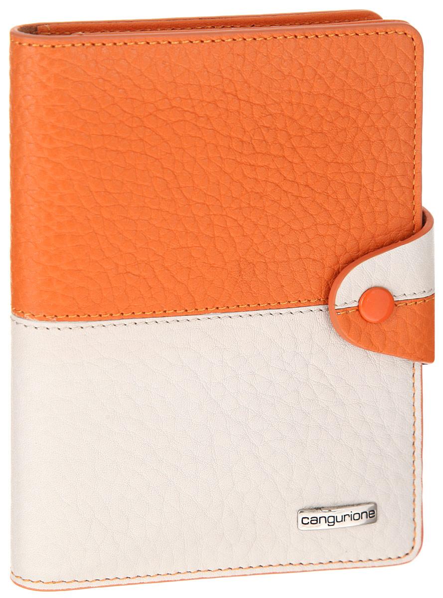 Обложка для автодокументов Cangurione, цвет: оранжевый, бежевый. 3341-F3341-F/Orange-BeigeСтильная обложка для автодокументов Cangurione оригинальной расцветки выполнена из натуральной высококачественной кожи и декорирована фактурным тиснением и прострочкой по контуру. Лицевая сторона обложки оформлена металлической пластиной с названием бренда. Закрывается изделие на хлястик с кнопкой. На внутреннем развороте четыре прорези для визиток и кредитных карт, съемный блок из пяти прозрачных файлов из мягкого пластика, сетчатый карман для фото и дополнительный вертикальный карман. Изделие упаковано в стильную фирменную коробку. Обложка не только поможет сохранить внешний вид ваших документов и защитить их от повреждений, но и станет стильным аксессуаром, который подчеркнет ваш неповторимый стиль.