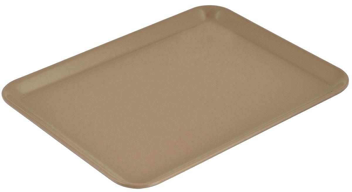 Поднос Zeller, цвет: светло-коричневый, 24 см х 18 см26692_св/коричневыйОригинальный поднос Zeller, изготовленный из пластика, станет незаменимым предметом для сервировки стола. Поднос не только дополнит интерьер вашей кухни, но и предохранит поверхность стола от грязи и перегрева. Яркий и стильный поднос Zeller придется по вкусу и ценителям классики, и тем, кто предпочитает современный стиль.