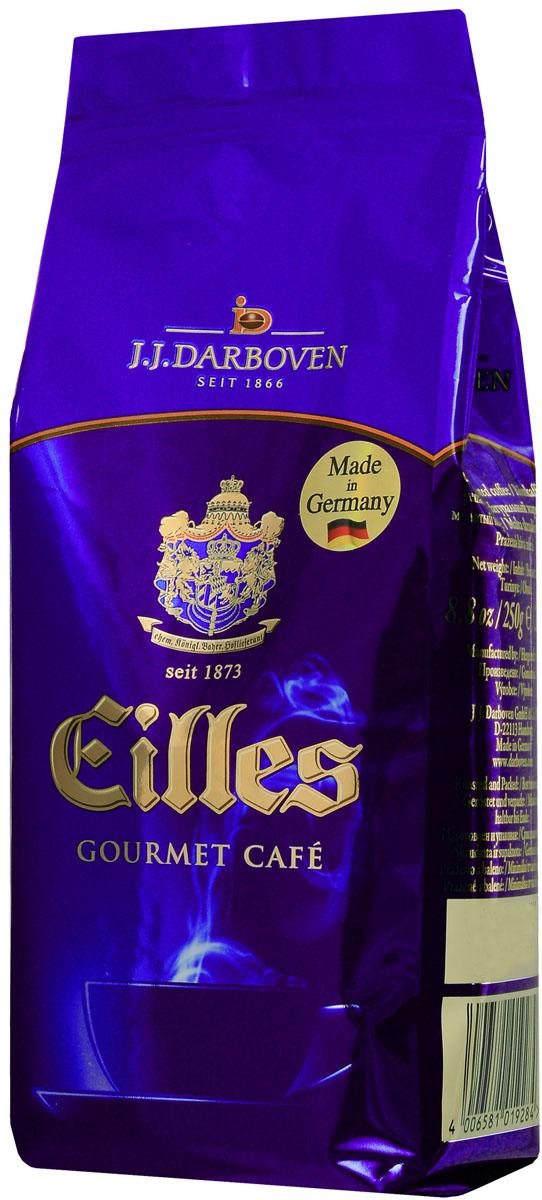 Eilles Gourmet Cafe кофе молотый, 250 г19284Молотый кофе Eilles Gourmet Cafe - выбор настоящих гурманов. На немецком рынке этот кофе известен более 130 лет, кроме того, сам Людвиг II стал его ценителем. На протяжении долгого периода времени Eilles оставался маркой-фаворитом при баварском дворе. Этот кофе – изысканная композиция высококачественных сортов Арабики прямиком из Южной и Центральной Америки. Восхищает его великолепный чувственный аромат, дополненный нежнейшей пенкой и ощутимым послевкусием. Удивительно хорош при любом виде приготовления.