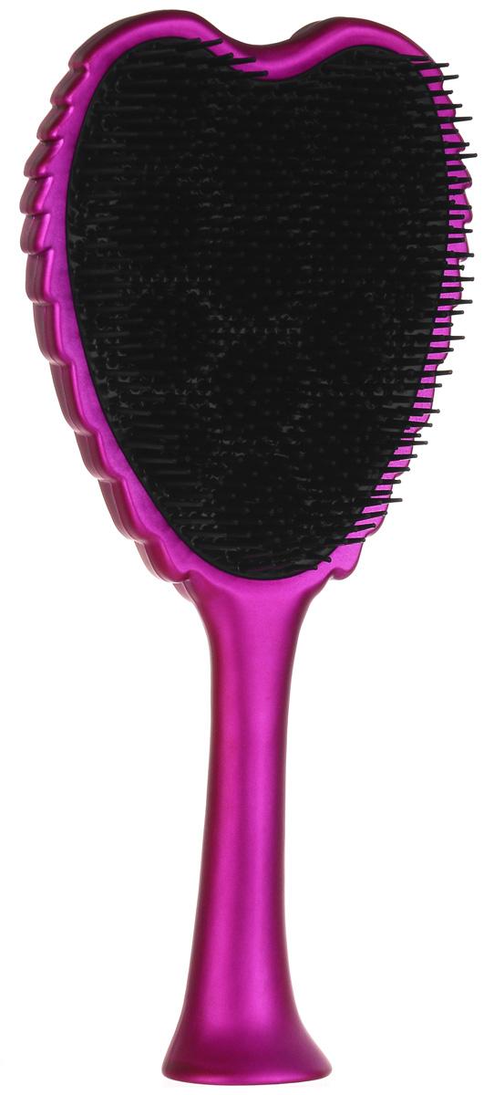 TANGLE ANGEL EXTREME Щетка для волос тон Pink/Black20879Новая профессиональная щетка, позволяющая легко, элегантно и безболезненно распутывать даже самые непослушные волосы. Обладая теплостойким, антибактериальным и антистатическим свойствами, она также ценится за фантастический внешний вид: ее оборотная сторона повторяет очертания крыльев ангела. Продукт подходит для всех типов волос и делает их гладкими и шелковистыми.