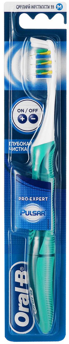 Oral-B Зубная щетка электрическая Pulsar Expert, средняя жесткость, цвет: бирюзовыйORL-81402824_бирюзовыйOral-B Зубная щетка электрическая Pulsar Expert, средняя жесткость, цвет: бирюзовый