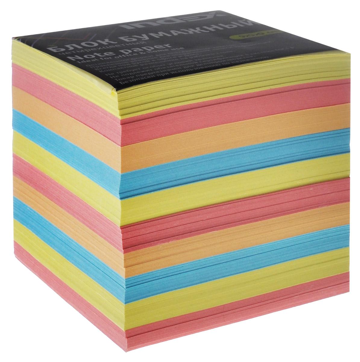 Index Блок для записей многоцветный, цвет: желтый, розовый, голубой