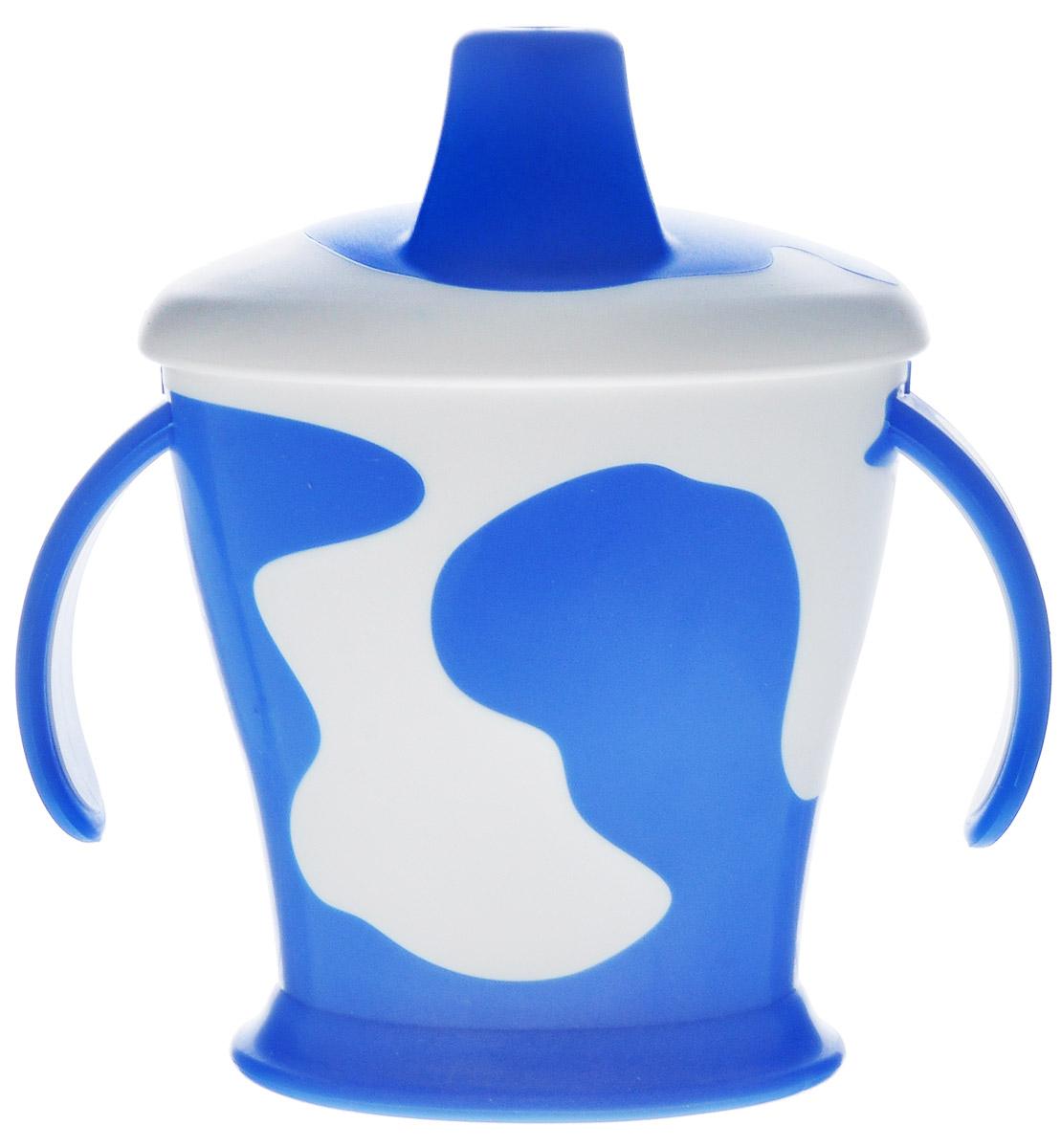 Canpol Babies Поильник Коровка с носиком и ручками цвет голубой 250 мл