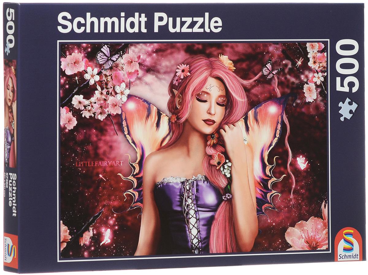 Schmidt Эльф-бабочка. Пазл, 500 элементов57362Пазл Schmidt Эльф-бабочка, без сомнения, придется по душе вам и вашему ребенку. Собрав этот пазл, включающий в себя 500 элементов, вы получите красочную картинку с изображением девушки-эльфа с чудесными крылышками. Пазл - великолепная игра для семейного досуга. Сегодня собирание пазлов стало особенно популярным, главным образом, благодаря своей многообразной тематике, способной удовлетворить самый взыскательный вкус. А для детей это не только интересно, но и полезно. Собирание пазла развивает мелкую моторику рук у ребенка, тренирует наблюдательность, логическое мышление, знакомит с окружающим миром, с цветом и разнообразными формами.