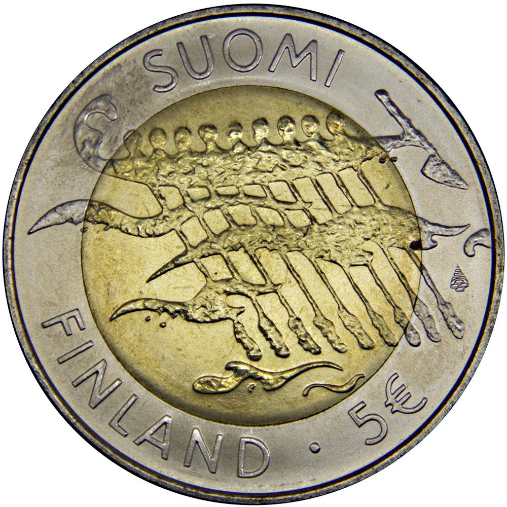 Монета номиналом 5 евро 90 лет Независимости. Финляндия. 2007 год324006Материал: Биметалл Вес: 19,80 г. Диаметр: 35,00 мм. Тип гурта: Гладкий Качество печати: BU