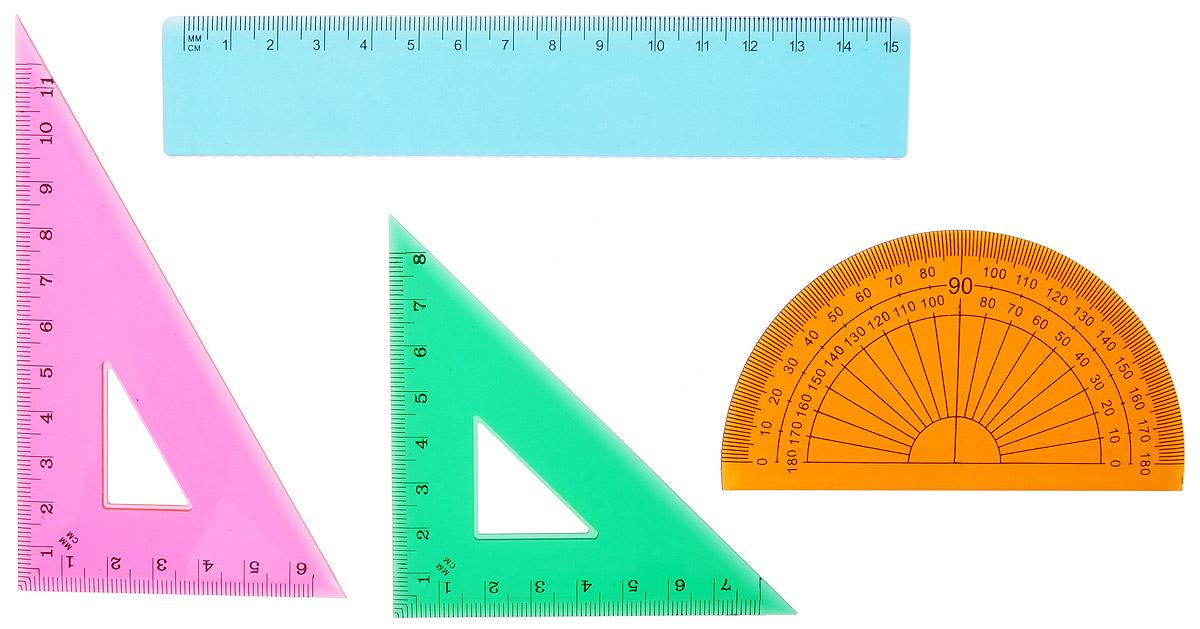 Proff Набор геометрический, 4 предмета. BDS897