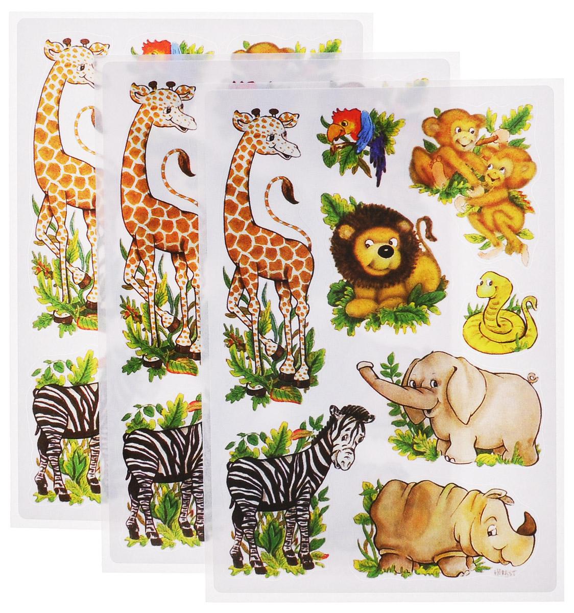 Herma Наклейки Африканские звери3793Наклейки для творчества Herma Африканские звери серии Decor на бумажной основе помогут вам украсить интерьер вашего дома и проявить индивидуальность. Самоклеющиеся элементы выполнены в виде травы и диких животных. В комплекте 3 листа.