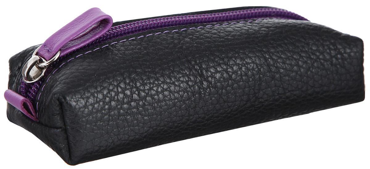 """Ключница Dimanche """"MUMI"""", цвет: черный, фиолетовый. 058"""