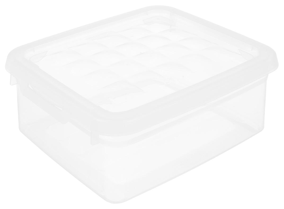 Контейнер для хранения Curver, 1,8 л03006-001-00Контейнер для хранения Curver изготовлен из прозрачного пластика. Контейнер предназначен для хранения канцелярии, медикаментов, различных мелких предметов. Изделие снабжено плотно закрывающейся крышкой, украшенной рельефом в виде объемных квадратов. Такой контейнер поможет хранить все в одном месте, а также защитить вещи от пыли, грязи и влаги.
