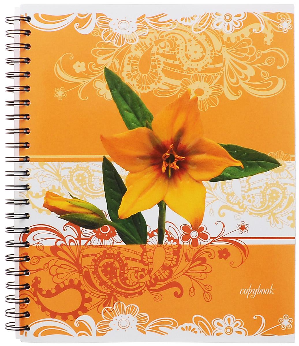 Полиграфика Тетрадь в клетку Цветы, цвет: желтый, 96 листов37637Тетрадь Полиграфика Цветы представлена в формате А5. Тетрадь в глянцевой обложке с рельефным тиснением и изображением желтого цветка. Внутренний блок состоит из 96 листов со стандартной линовкой в клетку без полей на стальном гребне. Такое практичное и надежное крепление позволяет вырывать листы и полностью открывать тетрадь на столе. Вне зависимости от профессии и рода деятельности у человека часто возникает потребность сделать какие-либо заметки. Именно поэтому всегда удобно иметь эту тетрадь под рукой, особенно если вы творческая личность и постоянно генерируете новые идеи.