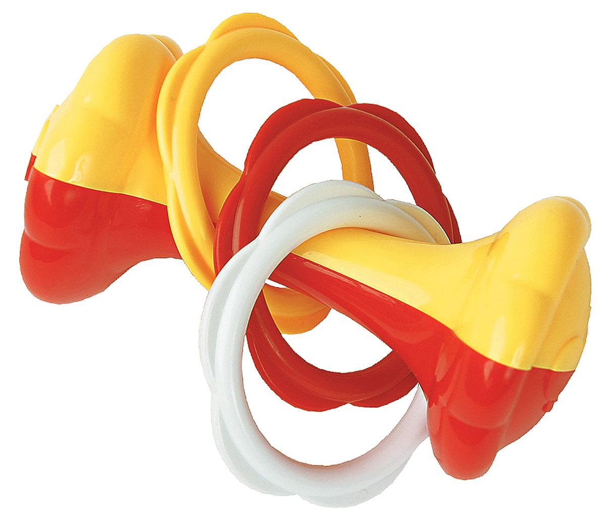 Курносики Погремушка Гантелька21315Погремушка Курносики Гантелька - легкая игрушка, которую удобно держать в маленьких ручках. Отлично подходит в качестве первой погремушки. Игрушка-погремушка выполнена из безопасного пластика и представляет собой пластиковую гантельку с тремя разноцветными кольцами на ней. Игрушка развивает слух, мелкую моторику, мышление, концентрацию внимания и цветовое восприятие.