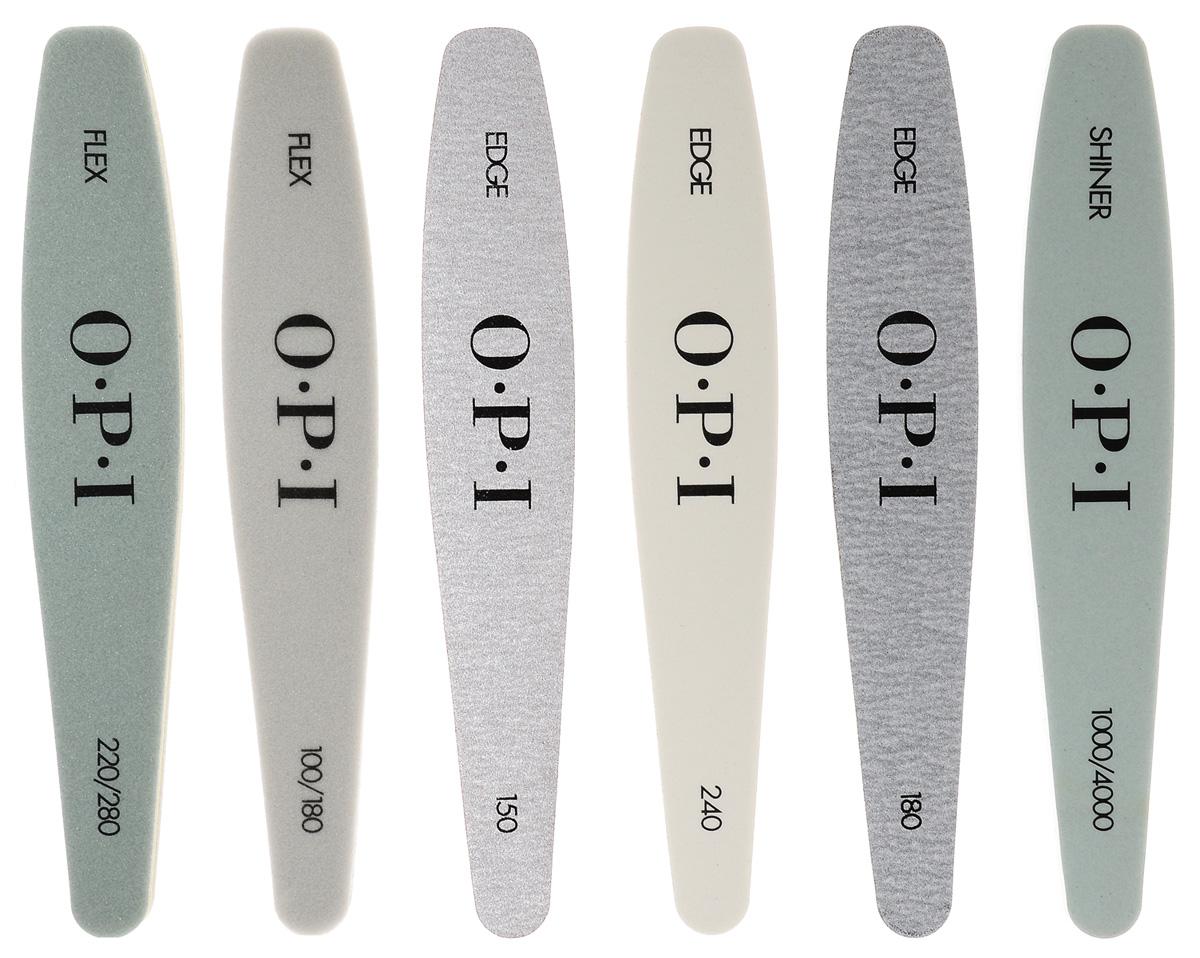OPI Комплект пилок для профессионалов, 6 шт.FI600Комплект пилок для профессионалов изготовлены из прочных материалов с абразивами разной степени жесткости.