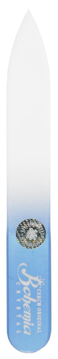 Bohemia Пилочка для ногтей, стеклянная, чехол из мягкого пластика, цвет: синий. 0902cz233-0902в_синийСтеклянная пилочка Bohemia подходит как для натуральных, так и для искусственных ногтей. Она прекрасно шлифует и придает форму ногтям. После пользования стеклянной пилочкой ногти не слоятся и не ломаются. При уходе за накладными ногтями во время работы ее рекомендуется периодически смачивать в воде. Поверхность стеклянной пилочки не поддается коррозии. К пилочке прилагается замшевый чехол. Материал пилочки: богемское стекло.