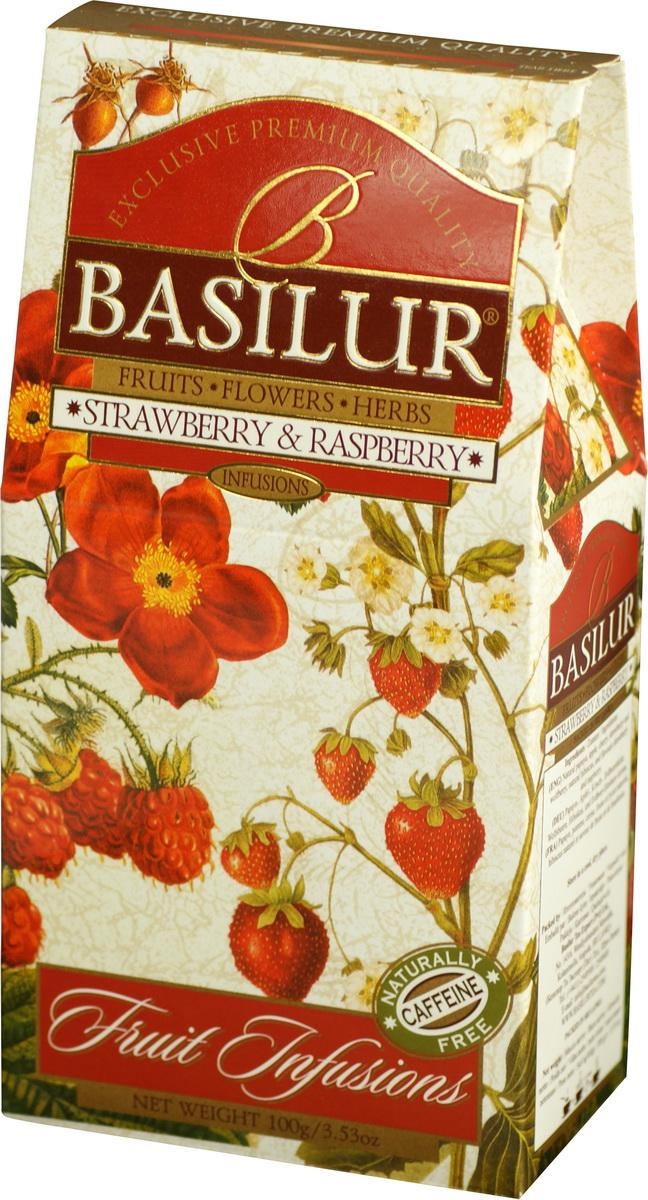 Basilur Strawberry and Raspberry фруктовый листовой чай, 100 г70882-00Basilur Strawberry and Raspberry - это взрыв летних ароматов клубники и малины, которые не оставят вас равнодушными. Идеально подходит, как холодный напиток в теплый летний день, или горячий напиток прохладной ночью.