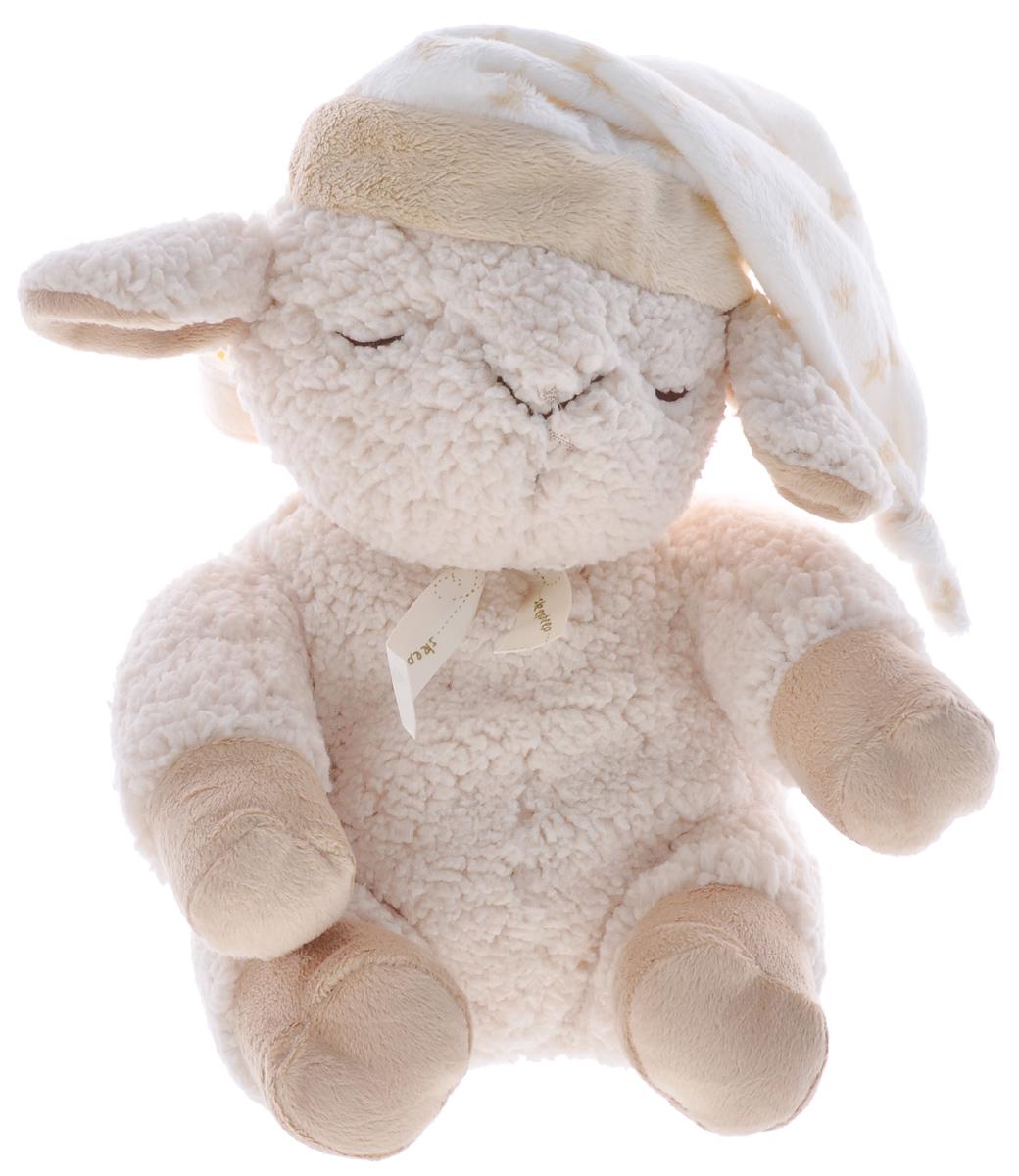 Cloud B Мягкая музыкальная игрушка Сонная Овечка с сенсором звука7304-Z8-RUМузыкальная игрушка Сонная овечка с сенсором поможет родителям даже глубокой ночью. Игрушка выполнена в виде мягкой спящей овечки в ночном колпаке. К овечке прилагается музыкальное устройство-сенсор. Встроенный сенсор звука реагирует на голос ребенка. Музыка автоматически включается, если малыш проснется и заплачет. В игрушке три уровня чувствительности к звукам, которые позволяют настроить сенсор с учетом шумов окружающей среды. Сенсор продолжает воспроизводить мелодию, которая проигрывалась последней, с тем же уровнем громкости. Игрушка легко крепится к кроватке или коляске с помощью специальной петельки-липучки. Музыкальный блок управления помещается внутрь корпуса овечки и легко вынимается. Игрушка оснащена таймером: автоматически выключается после 23 или 45 минут работы. 8 мелодий: Материнское сердцебиение. Twinkie-Twinkie Little Star. Весенний дождик. Roskabye Baby. Шум океана. Классическая колыбельная. Песня...