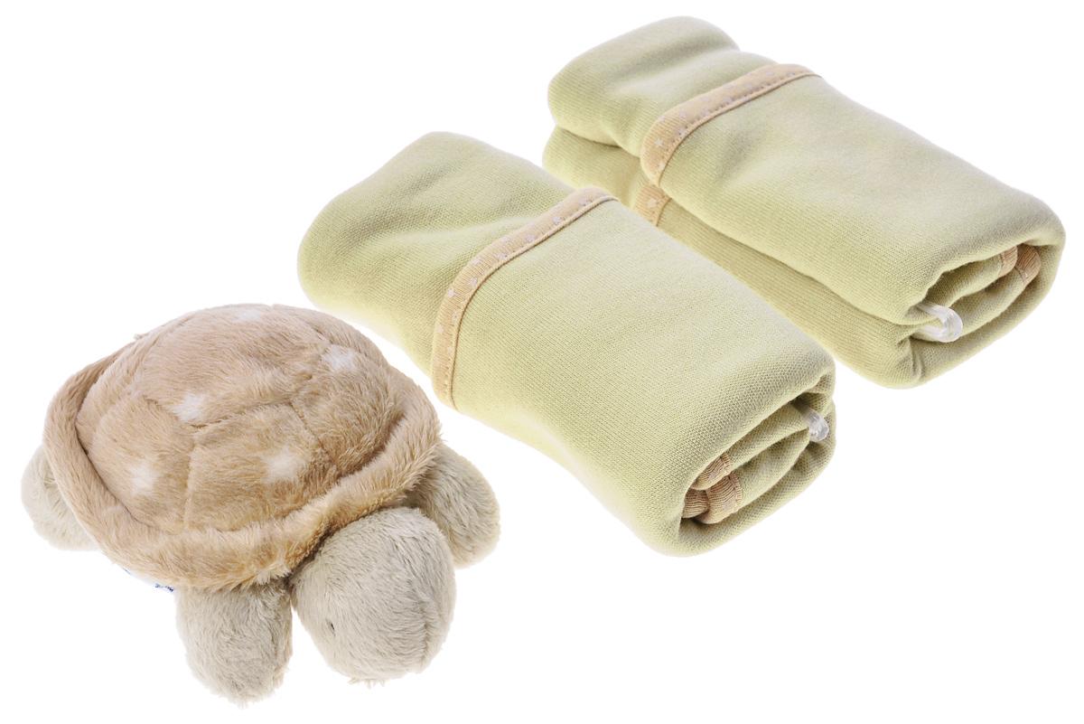 Cloud b Подарочный набор Черепашка-погремушка и салфетки, 3 предмета7172-TT-RUПодарочный набор Черепашка-погремушка и салфетки понравится и малышу и родителям. Он состоит из очень милой плюшевой погремушки в виде спящей черепашки и двух салфеток. Погремушка изготовлена из безопасных материалов, а ее размер идеально подходит для маленькой ручки. Две мягкие салфетки изготовлены из 70% вискозы и 30% хлопка, благодаря чему великолепно впитывают влагу.