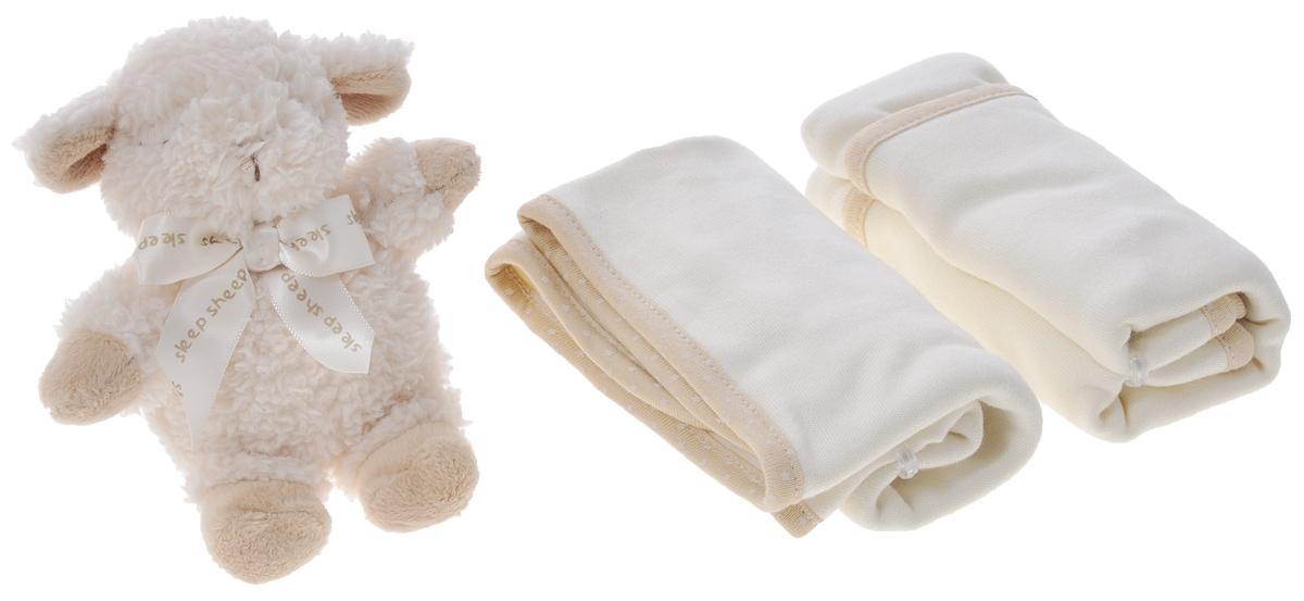 Cloud b Подарочный набор Овечка-погремушка и салфетки, 3 предмета7172-SS-RUПодарочный набор Овечка-погремушка и салфетки понравится и малышу и родителям. Он состоит из очень милой плюшевой погремушки в виде спящей овечки и двух салфеток. Погремушка изготовлена из безопасных материалов, а ее размер идеально подходит для маленькой ручки. Две мягкие салфетки изготовлены из 70% вискозы и 30% хлопка, благодаря чему великолепно впитывают влагу.