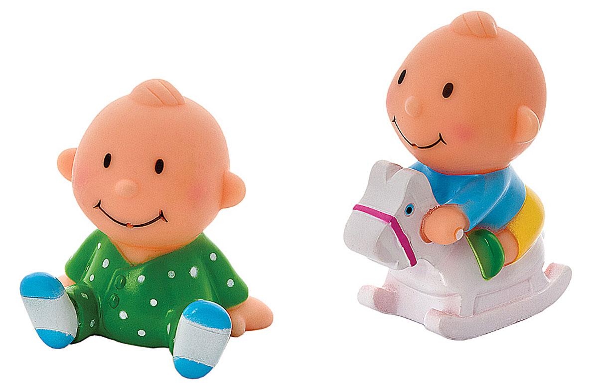 Курносики Набор игрушек-брызгалок для ванны Веселая игра25131Набор игрушек-брызгалок для ванны Курносики Веселая игра непременно понравится вашему ребенку и превратит купание в веселую игру! Яркие игрушки выполнены из прочного безопасного ПВХ в виде двух забавных пупсов. Игрушки способствуют развитию воображения, цветового восприятия, тактильных ощущений и мелкой моторики рук.