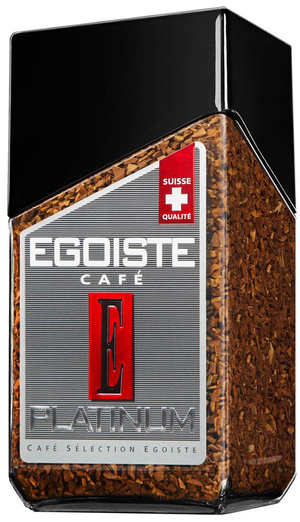 Egoiste Platinum кофе растворимый, 100 г7610121710493Элитная Колумбийская арабика дарит кофе Egoiste Platinum крепкий насыщенный вкус с легким фруктовым оттенком и нежным послевкусием.