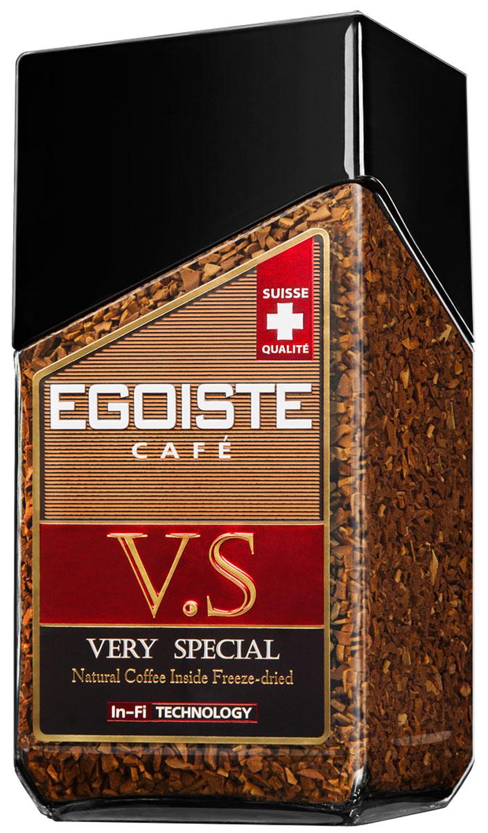 Egoiste V.S. кофе растворимый, 100 г7610121710622Терпкий вкус средней плотности изысканного кофе Egoiste V.S. имеет неповторимое ореховое послевкусие, благодаря отборной арабике Grand CRU.