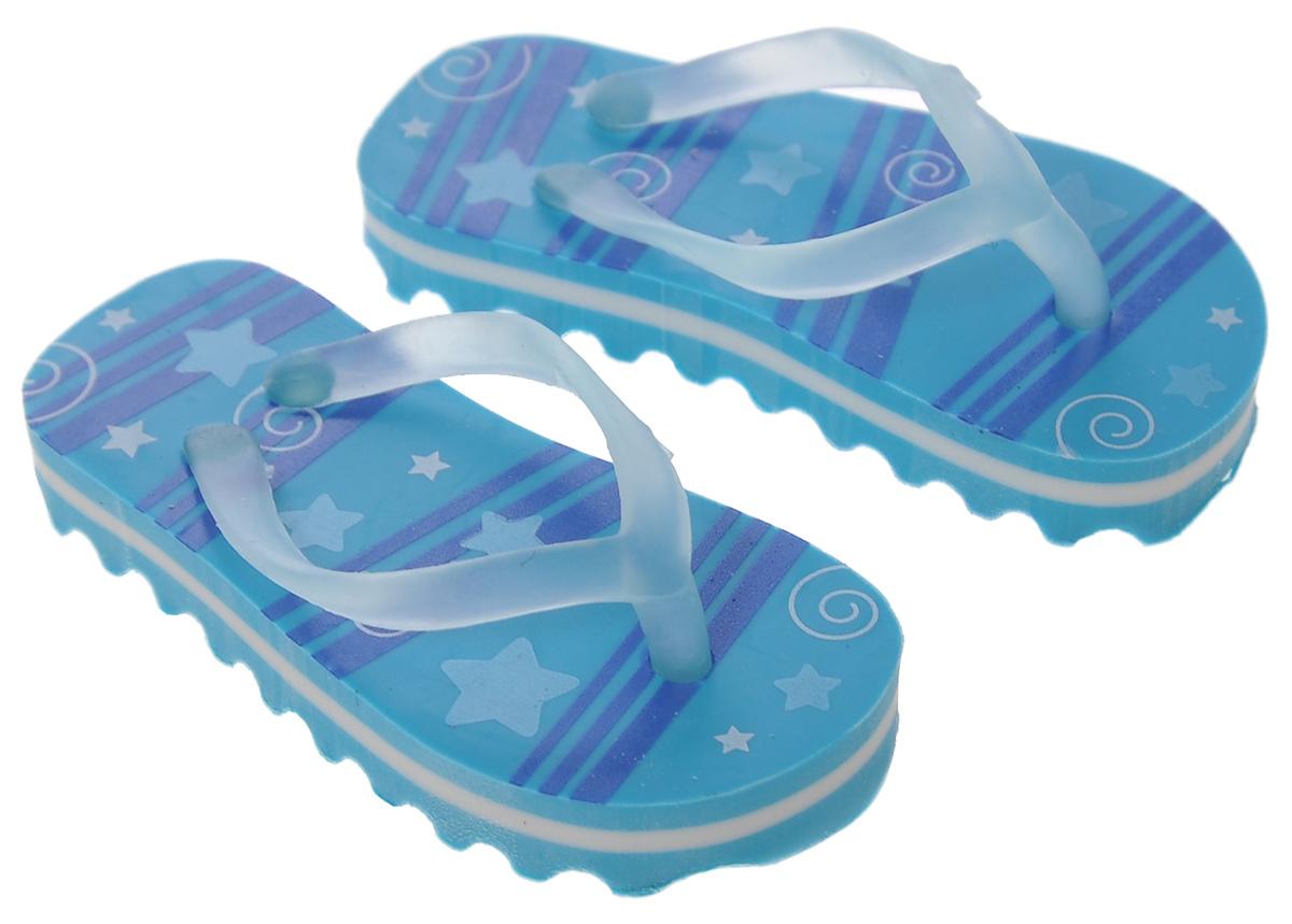 Brunnen Ластик Пляжные тапочки, цвет: синий, 2 шт10-29 979_синийЛастик Brunnen Пляжные тапочки выполнен в оригинальном дизайне. Представляет собой резинку для стирания, выполненную в виде миниатюрных копий пляжных тапочек синего цвета. Ластик обеспечивают высокое качество коррекции и не повреждает поверхность бумаги.