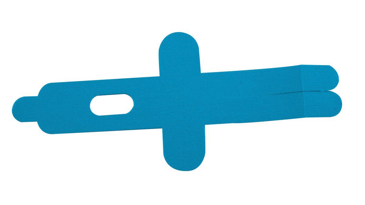 """Лента кинезиологическая для локтя """"Lite Weights"""", цвет: голубой, 2 шт"""