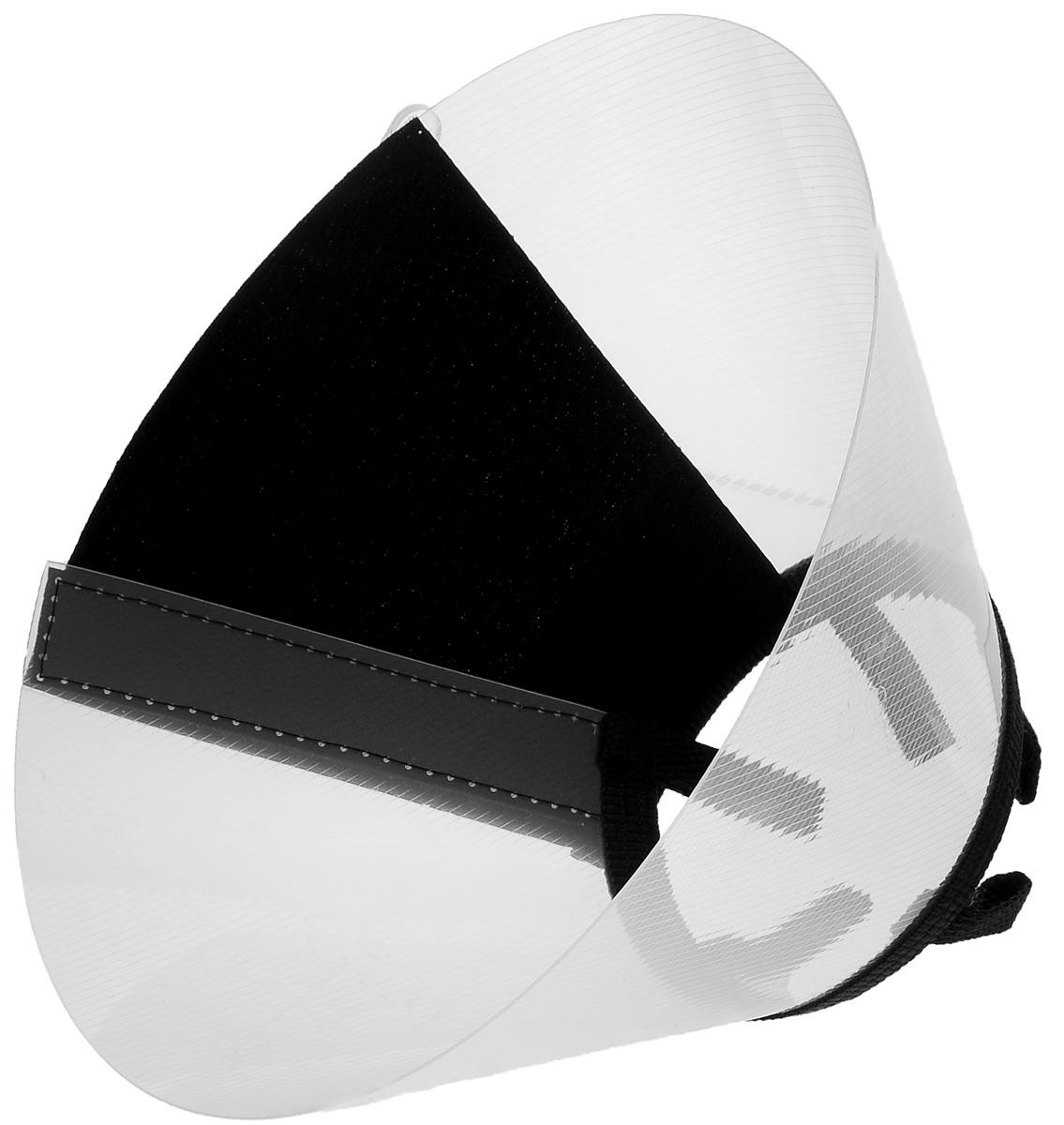 Воротник защитный Талисмед, на липучке, обхват шеи 24-29 см24851Защитный воротник Талисмед изготовлен из высококачественного нетоксичного пластика, который позволяет сохранять углы обзора для животного. Изделие разработано для ограничения доступа собаки к заживающей ране или послеоперационному шву. Простота в эксплуатации позволяет хозяевам самостоятельно одевать и снимать защитный воротник с собаки. Воротник крепится закрепляется при помощи липучки. Обхват шеи: 24-29 см. Высота воротника: 10,5 см.