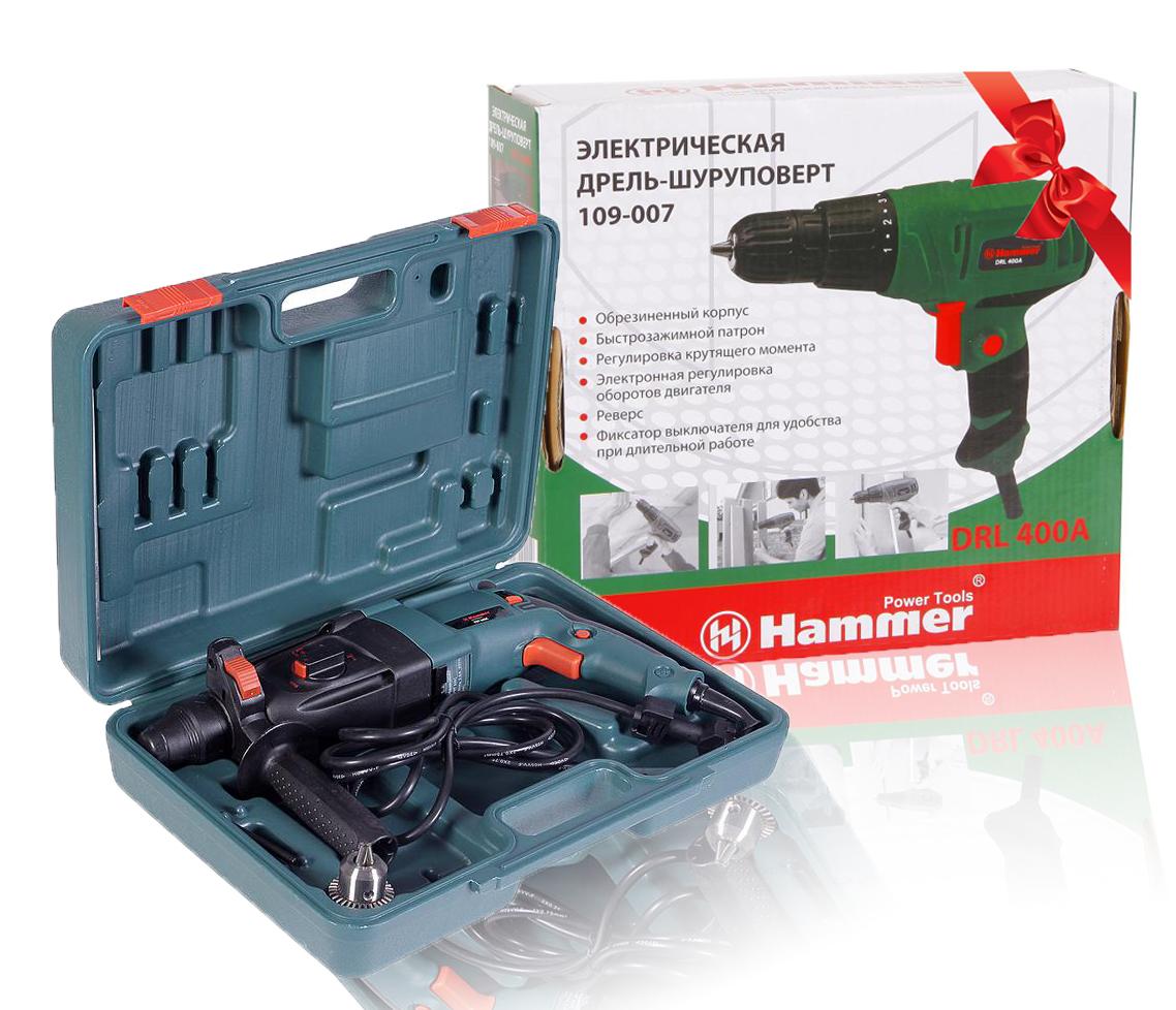 Набор перфоратор Hammer PRT800C PREMIUM + дрель-шуруповерт Hammer Flex DRL400A