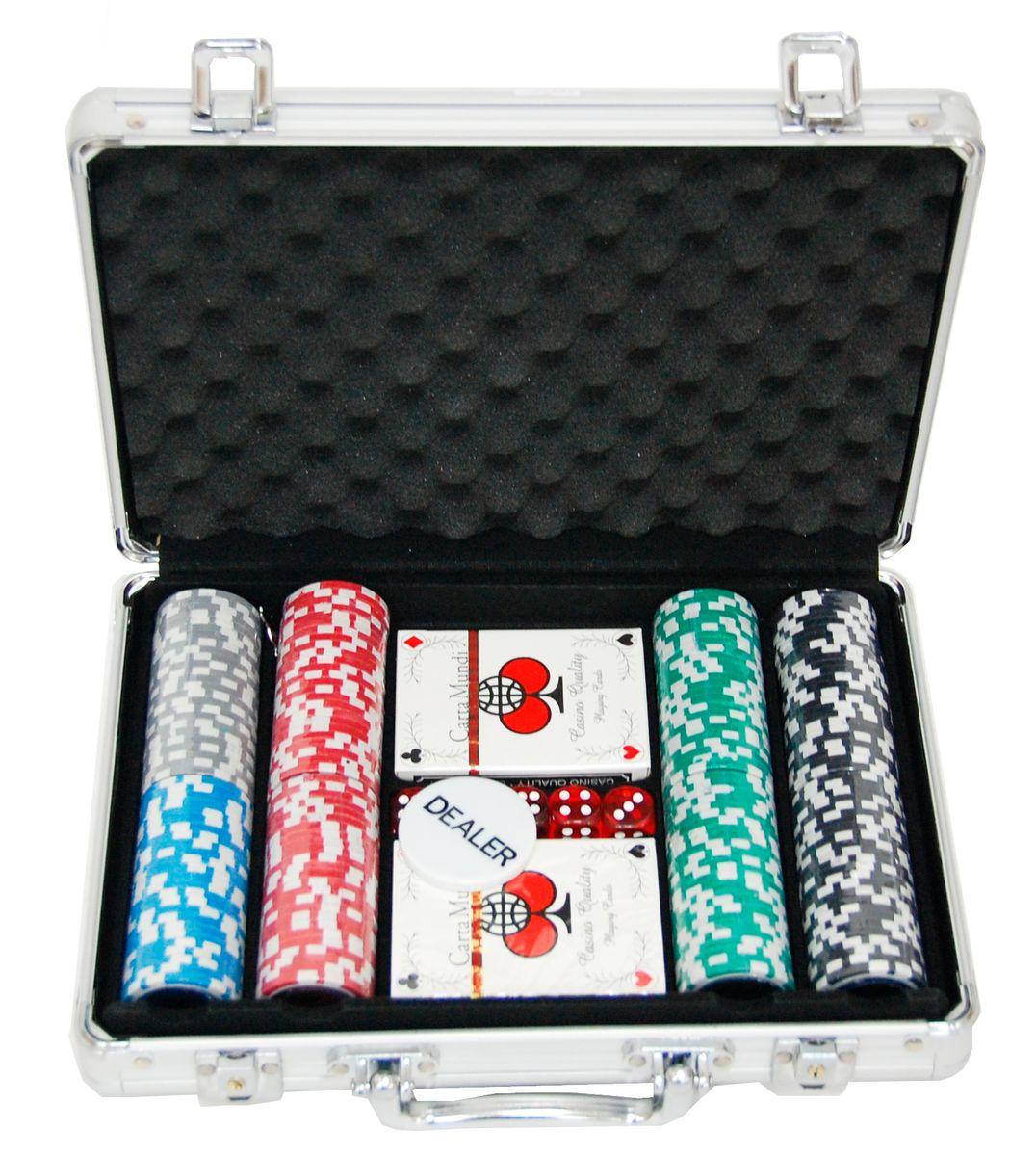 Дипломат для покера на 200 фишек с номиналом, размер: 30х21х8см. ГД5/200ГД5/200Дипломат для покера на 200 фишек с номиналом