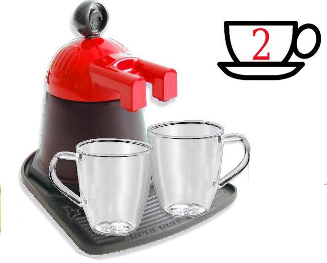 Кофеварка на 2 порции + 2 чашки, цвет: красный, черный111078_красн_чернГейзерная кофеварка Arte&Fuoco позволит вам приготовить ароматный напиток на 2 персоны. Корпус кофеварки изготовлен из высококачественного литого алюминия. Кофеварка состоит из двух соединенных между собой емкостей и снабжена алюминиевым фильтром-перколятором, который сохраняет аромат кофе. Удобная ручка выполнена из прочного бакелита. в комплект входят 2 кофейных чешечки из термостойкого стекла. Данная модель предельно проста в использовании, в ней отсутствуют подвижные части и нагревательные элементы, поэтому в ней нечему ломаться. Гейзерные кофеварки являются самыми популярными в мире и позволяют приготовить ароматный кофе за считанные минуты. Основной принцип действия гейзерной кофеварки состоит в том, что напиток заваривается путем прохождения горячей воды через слой молотого кофе. В нижнюю часть гейзерной кофеварки заливается вода, в промежуточную часть засыпается молотый кофе, кофеварка ставится на огонь или электрическую плиту. Закипая, вода начинает испаряться и...