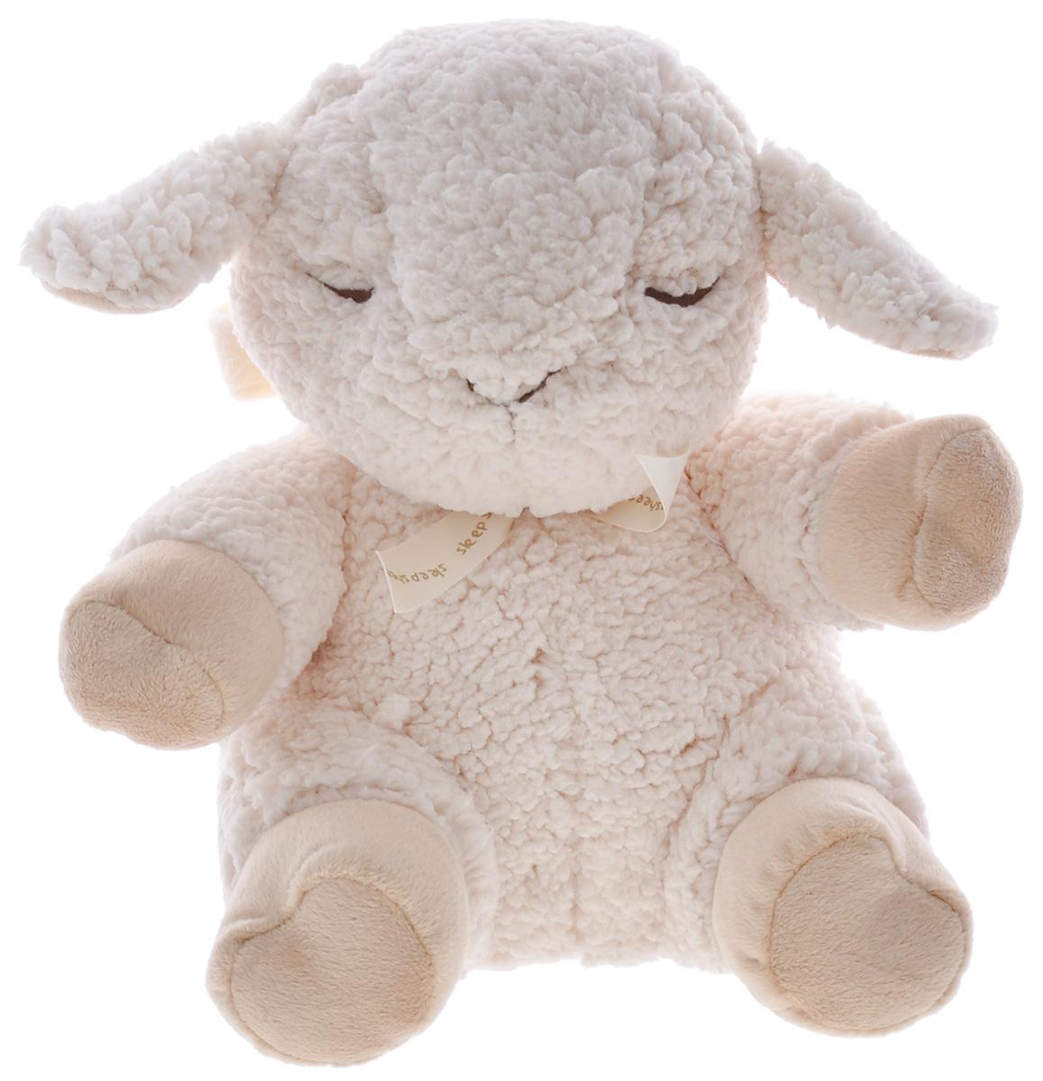 Cloud B Мягкая музыкальная игрушка Сонная Овечка7303-Z8-RUМузыкальная игрушка Сонная овечка с сенсором поможет родителям даже глубокой ночью. Игрушка выполнена в виде мягкой спящей овечки. Игрушка может воспроизводить 8 звуков и мелодий, специально подобранных для спокойного сна ребенка. Игрушка легко крепится к кроватке или коляске с помощью специальной петельки- липучки. Музыкальный блок управления помещается внутрь корпуса овечки и легко вынимается. Игрушка оснащена таймером: автоматически выключается после 23 или 45 минут работы. Мелодии и звуки: Материнское сердцебиение. Twinkie-Twinkie Little Star Весенний дождик. Roskabye Baby. Шум океана. Классическая колыбельная. Песня китов. Успокаивающая мелодия. Питание от 2 батареек типа АА (в наборе).