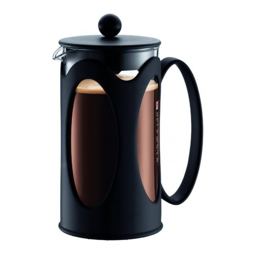 Кофейник с прессом Kenya 1.0л черный, арт. 10685-0110685-01Материал: коррозионностойкая сталь, пластик, стекло