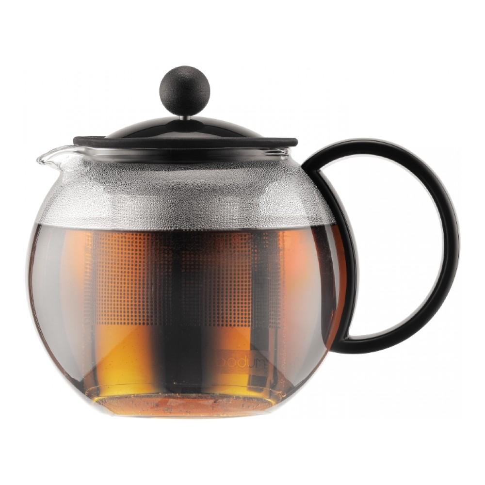 Чайник заварочный Bodum Assam, с фильтром, 0,5 л1812-01Заварочный чайник Bodum Assam изготовлен из высококачественного стекла, пластика и нержавеющей стали. Изделие оснащено фильтром, благодаря которому задерживает чаинки и предотвращает попадание их в чашку. Прозрачный корпус обеспечивает легкую очистку. Чайник поможет заварить крепкий ароматный чай и великолепно украсит стол к чаепитию. Можно мыть в посудомоечной машине.