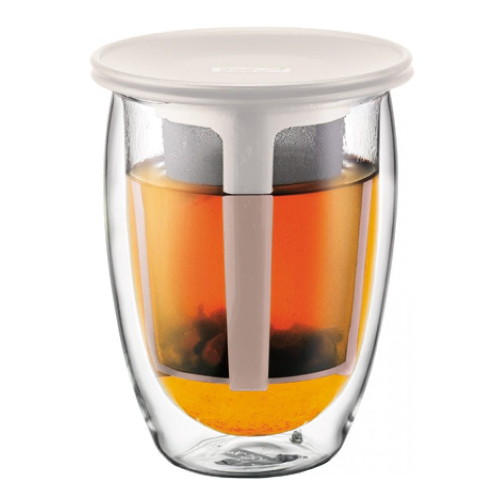 Термобокал Tea For One 0.35л бел., арт. K11153-913K11153-913