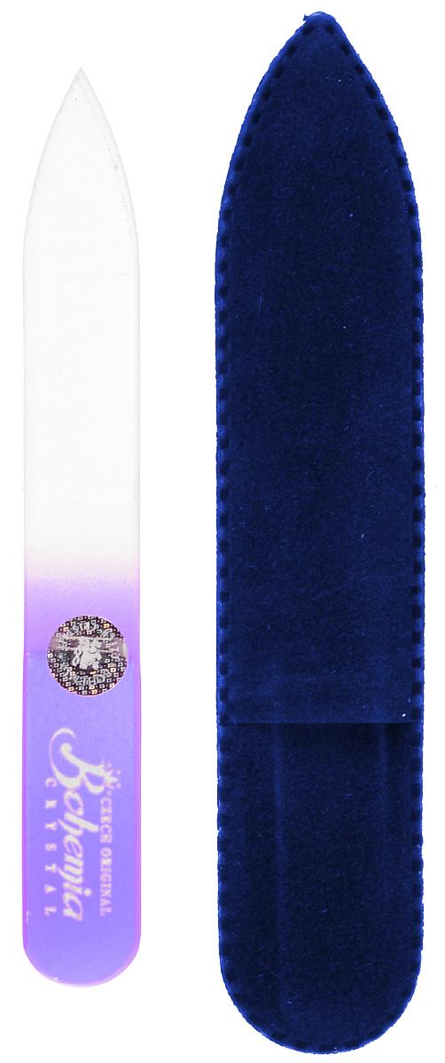 Пилочка для ногтей Bohemia, стеклянная, чехол из замши. 0902, цвет:фиолетовый233cz-0902вм_фиолетовыйУважаемые клиенты! Обращаем ваше внимание на цветовой ассортимент чехла. Поставка осуществляется в зависимости от наличия на складе.