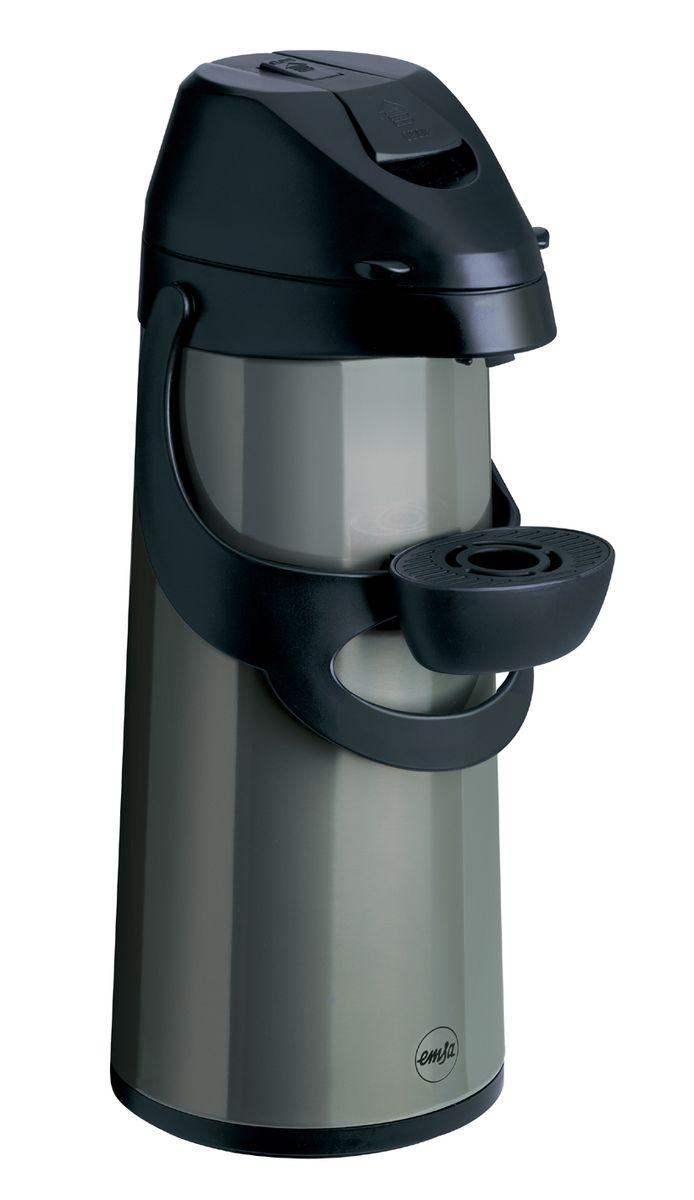 Термос с пневмонасосом EMSA PRONTO цвет-антрацит/черный, 1.9л502486