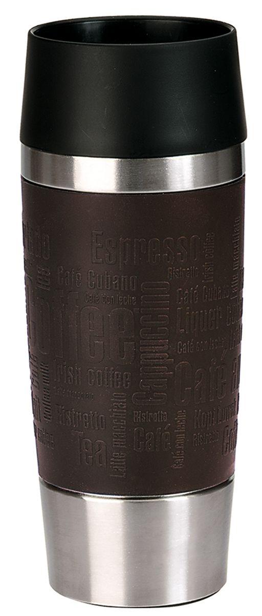 Термокружка Emsa Travel Mug, цвет: коричневый, стальной, 0,36 л513360Термокружка Emsa Travel Mug - это идеальный попутчик в дороге - не важно, по пути ли на работу, в школу или во время похода по магазинам. Вакуумная кружка на 100% герметична. Кружка имеет двустенную вакуумную колбу из нержавеющей стали, благодаря чему температура жидкости сохраняется долгое время. Кружку удобно держать благодаря покрытию Soft Touch из силикона. Изделие открывается нажатием кнопки. Пробка разбирается и превосходно моется. Дно кружки выполнено из силикона, что препятствует скольжению. Диаметр кружки по верхнему краю: 8 см. Диаметр дна кружки: 6,5 см. Высота кружки: 20,5 см. Сохранение холодной температуры: 8 ч. Сохранение горячей температуры: 4 ч.