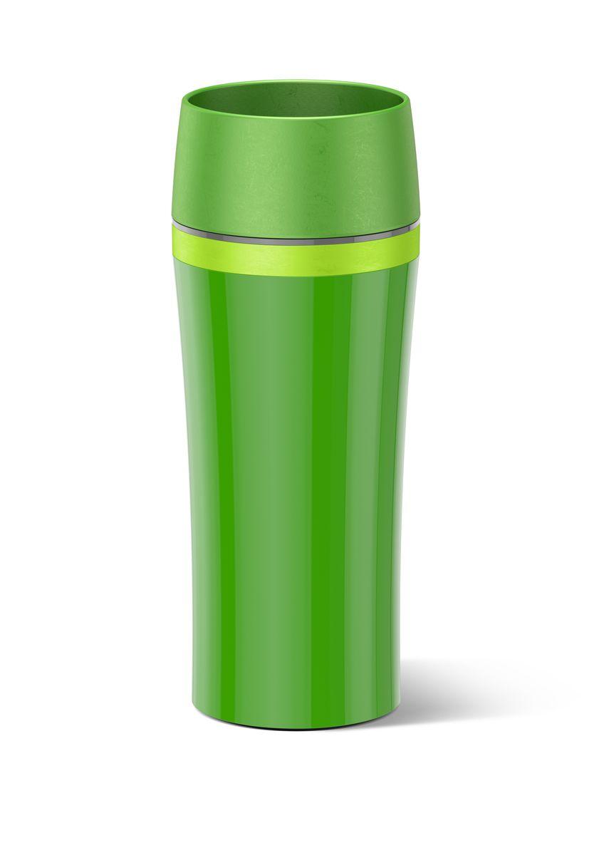 Термокружка Emsa Travel Mug Fun, цвет: зеленый, салатовый, 0,36 л514177Термокружка Emsa Travel Mug Fun - это идеальный попутчик в дороге - не важно, по пути ли на работу, в школу или во время похода по магазинам. Вакуумная кружка на 100 % герметична. Корпус выполнен из высококачественного пластика и имеет 2 стенки, благодаря чему температура жидкости сохраняется долгое время. Термокружка открывается нажатием кнопки, можно пить из нее с любой стороны. Пробка разбирается и превосходно моется. Дно кружки выполнено из силикона, что препятствует скольжению. Диаметр кружки по верхнему краю: 7,5 см. Диаметр дна кружки: 7 см. Высота кружки: 20,5 см.