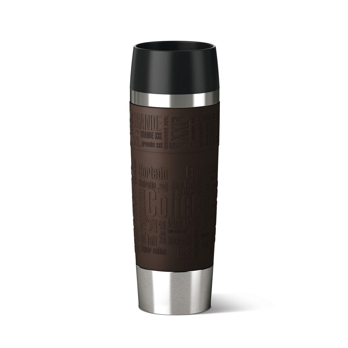 Термокружка TRAVEL MUG Grande объем - 0.5л, коричневый силикон515616
