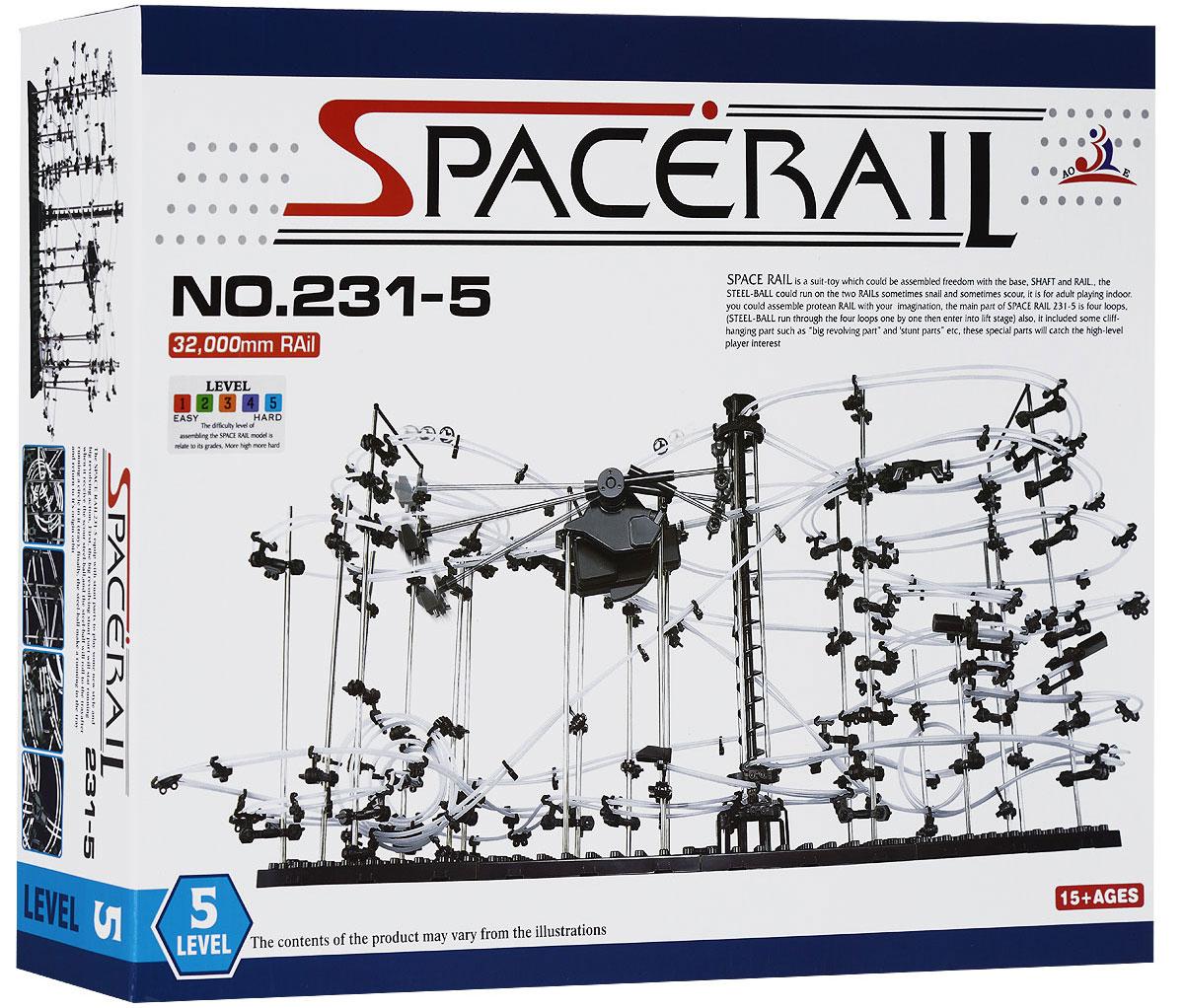 Space Rail Конструктор Уровень 5 231-5231-5Конструктор Space Rail - космическая трасса, представляет собой отличную пространственную головоломку, которая увлечет всю семью от мала до велика! Процесс сборки доставит удовольствие и детям, и родителям, а запуск космической трассы приведет всех в восторг. Вы сможете построить захватывающие дороги общей длиной до 32 метров и сами задать траектории, по которым стремительно будут проноситься металлические шарики. Это интереснейший аттракцион, напоминающий американские горки, за которым можно наблюдать часами. Комплект включает элементы для сборки модели, 5 металлических шариков и схематичную инструкцию (на китайском и английском языках). Сборка конструктора поможет ребенку развить пространственное мышление и фантазию. Собранная модель станет изюминкой вашего дома и привлечет внимание окружающих. Вы и ваш ребенок сможете гордиться тем, что самостоятельно собрали такой аттракцион. Характеристики: Материал: пластик, металл. ...