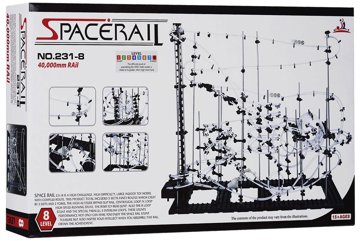 Space Rail Конструктор Уровень 8 231-8231-8Конструктор Space Rail - космическая трасса, представляет собой отличную пространственную головоломку, которая увлечет всю семью от мала до велика! Процесс сборки доставит удовольствие и детям, и родителям, а запуск космической трассы приведет всех в восторг. Вы сможете построить захватывающие дороги общей длиной до 40 метров и сами задать траектории, по которым стремительно будут проноситься металлические шарики. Это интереснейший аттракцион, напоминающий американские горки, за которым можно наблюдать часами. Комплект включает элементы для сборки модели, 10 металлических шариков, а также схематичную инструкцию, которая позволит собрать конструкцию правильно и быстро. Сборка конструктора поможет ребенку развить пространственное мышление и фантазию. Собранная модель станет изюминкой вашего дома и привлечет внимание окружающих. Вы и ваш ребенок сможете гордиться тем, что самостоятельно собрали такой аттракцион. Характеристики: Материал: пластик,...