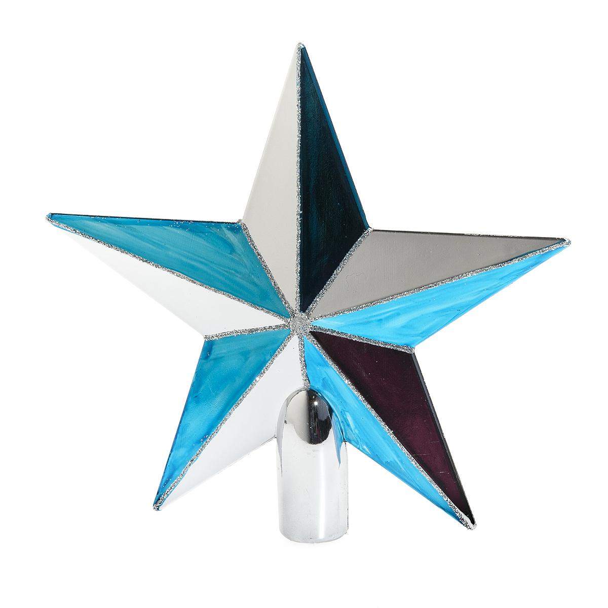 Верхушка на елку Lunten Ranta Яркая, цвет: синий, серебристый, высота 20 см. 6550565505Верхушка на елку Lunten Ranta Яркая прекрасно подойдет для декора новогодней елки. Изделие выполнено из высококачественного пластика в виде звезды и украшено блестками. Такая верхушка преобразит вашу елку в преддверии праздника и создаст особое настроение новогоднего торжества. Изящество, уникальный дизайн - эта верхушка совершенно не похожа на классические новогодние украшения. Высота верхушки: 20 см. Диаметр основания: 2 см.
