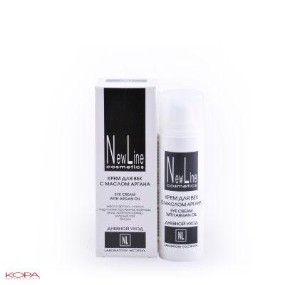 New Line Крем для век с маслом арганы, 30 мл23101Укрепляет, тонизирует, увлажняет нежную кожу вокруг глаз, снимает признаки усталости, возвращая коже свежесть, приятный цвет и сияние. Стимулирует синтез коллагена, омолаживая кожу, оказывает выраженный лифтинг-эффект на кожу нижнего и верхнего века. Смягчает морщины, питает тонкую сухую кожу век, защищает от воздействия УФ-лучей. Способствует уменьшению проявления отечности и темных кругов под глазами.